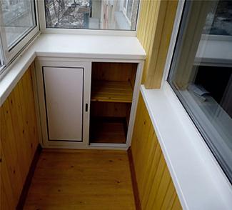 Шкаф на балкон с установкой