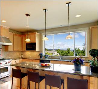 Потолок с установкой на кухню 9 м²