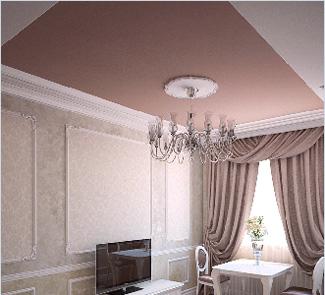Потолок с установкой в гостиной 20 м