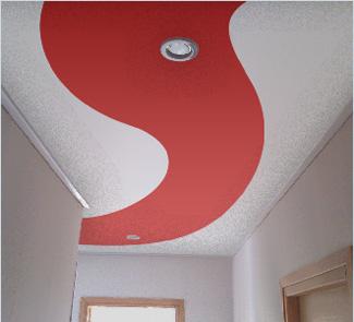 Сатиновый мультифактурный натяжной потолок с установкой в Коридор 6 м