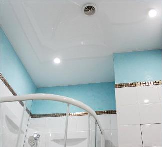 Сатиновый натяжной потолок с установкой в Ванную 3 м